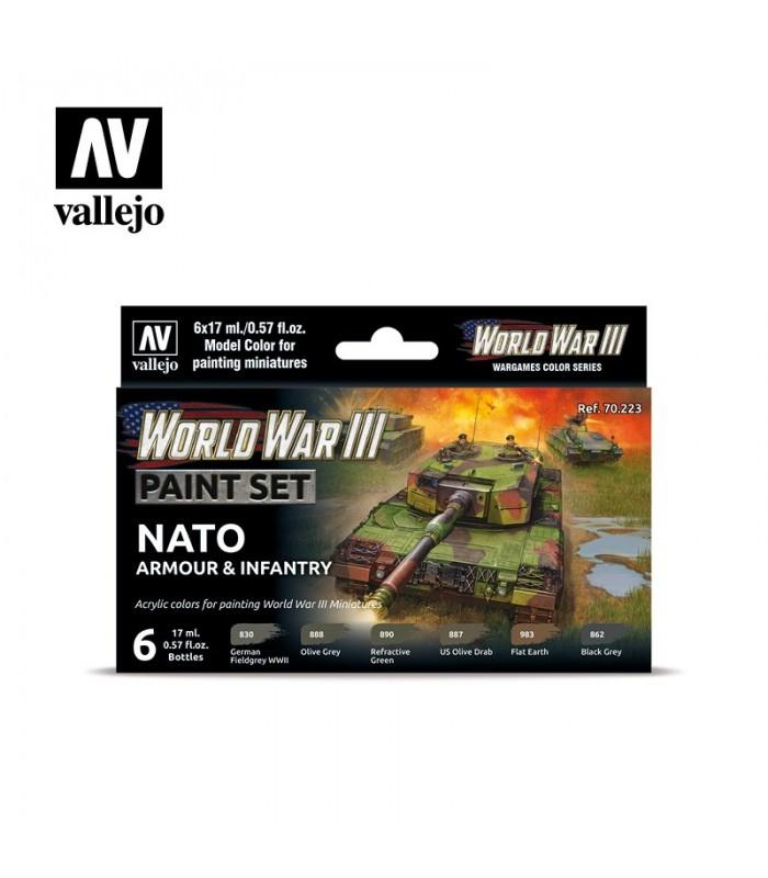 WWIII NATO Armadura e Infantaria Vallejo 70223 set