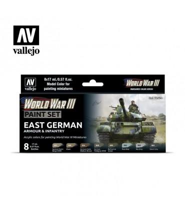 Definir WWIII Armadura da Alemanha Oriental e Infantaria Vallejo 70224