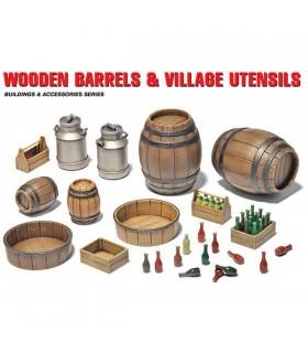 MiniArt Acc tonneaux en bois + ustensiles 1/35 35550