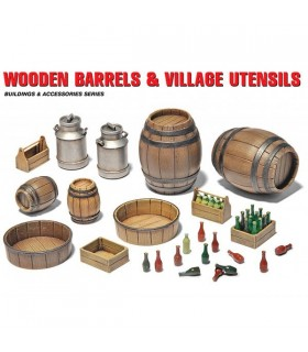 Tambores de madeira MiniArt Acc + Utensílios 1/35 35550