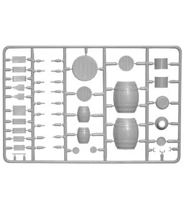 MiniArt Acc Barriles de madera + Utensilios 1/35 35550