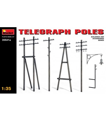 Acessórios para minivans postes telegráficos 1/35 35541a