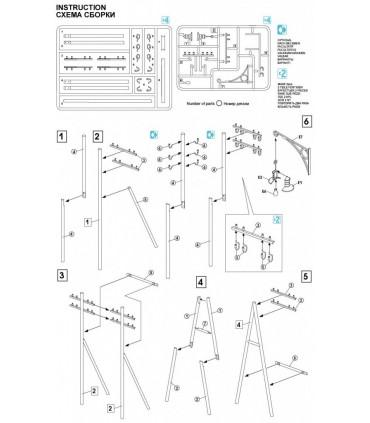 MiniArt accesorios postes de telégrafo 1/35 35541a