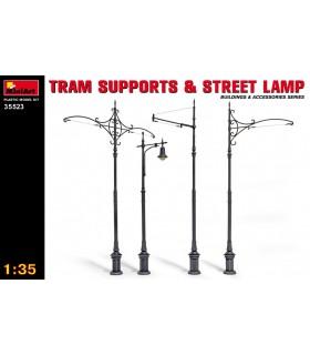MiniArt accesorios soportes de tranvía y farolas 1/35 35523