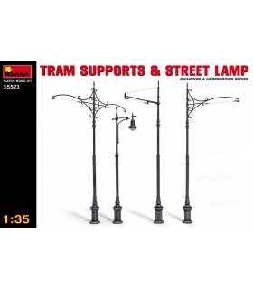 MiniArt accessories tram stands and street lamps 1/35 35523