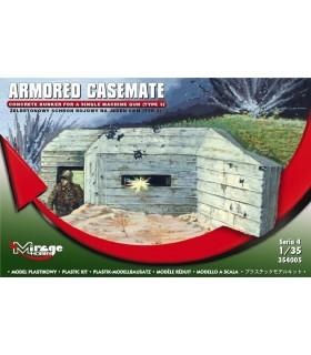 Mirage Concret Bunker für Single MG 1/35