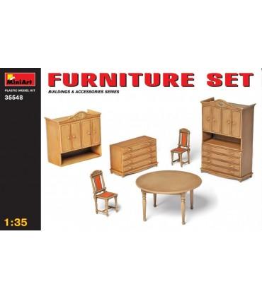 MiniArt Furniture Accessory Set, 1/35 scale