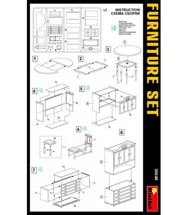 MiniArt Accesorio Furniture Set, escala 1/35