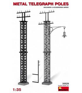 MiniArt Acc.s Metal Telegraph Poles Maßstab 1/35