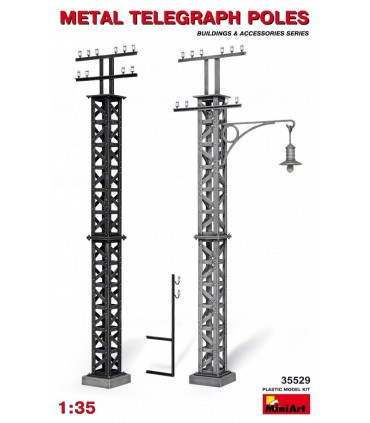 MiniArt Acc.s Metal Telegraph Pole scale, 1/35 scale