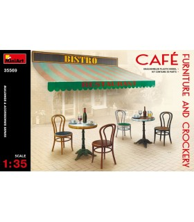 MiniArt Accesorios Café Furniture & Crockery, escala 1/35