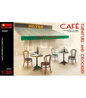 MiniArt Accessoires Café Mobilier & Vaisselle, échelle 1/35