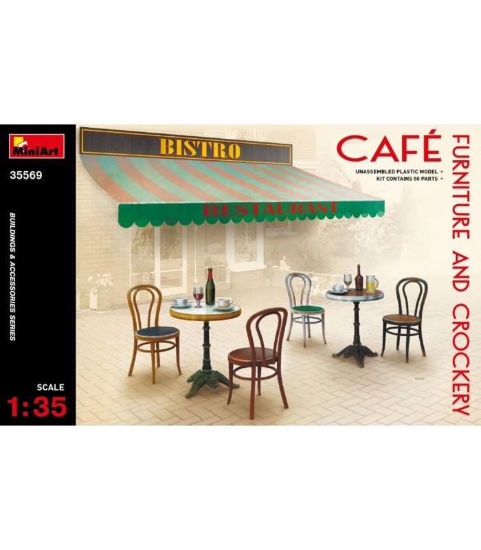 MiniArt Accessories Café Móveis e Louça, escala 1/35