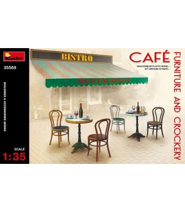 Accessori MiniArt Mobili da caffè e stoviglie, scala 1/35
