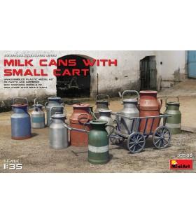 Boîtes de lait MiniArt Accesorios + Petit Chariot, escala 1/35