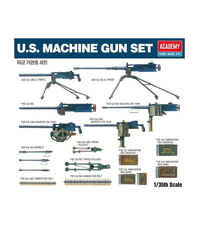Set de ametralladoras de EE. UU. 1/35 Academy