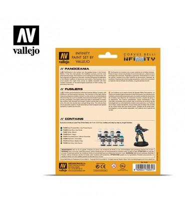 Conjunto Vallejo Modelo Cor 8 u. (17 ml.) Panoceania