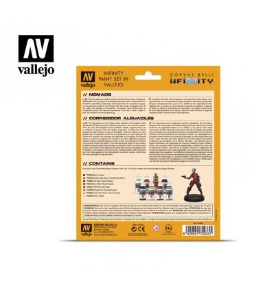 Conjunto Vallejo Modelo Cor 8 u. (17 ml.) Infinity Nomads