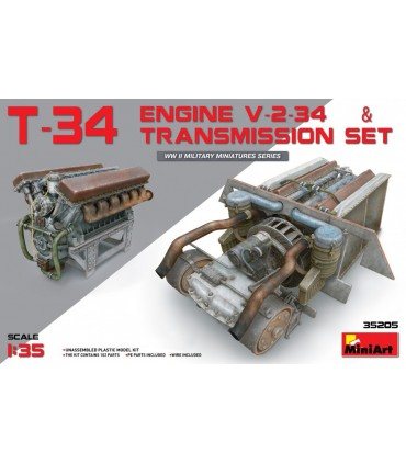 MiniArt Accesorio T-34 EngineV-2-34 + Getriebe 1/35
