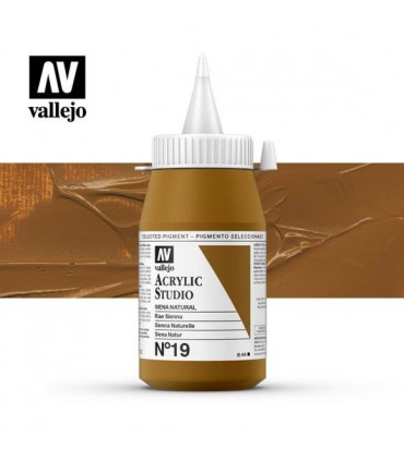 Acrilico Studio Vallejo 13 Amarillo Anaranjado 500 ml.