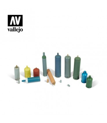 Modern gas cylinders Vallejo Scenics 1/35