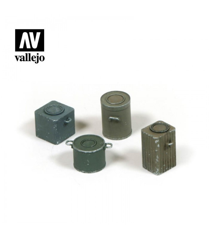 German food containers WWII Scenics Vallejo 1/35