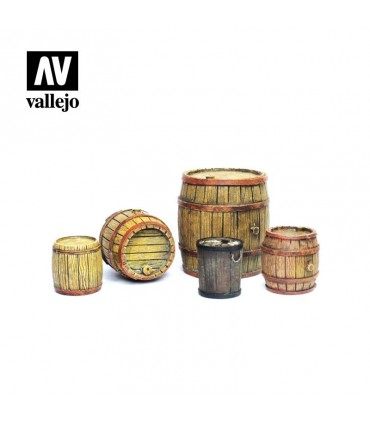 Scenics Vallejo 1/35 SC225 wooden barrels