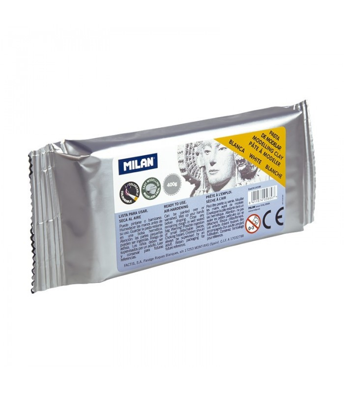 Pasta de modelagem branca 400gr MILAN 9114104