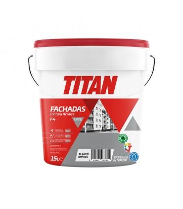Pintura Plástica Fachadas A4-F4 1l Blanco Titan
