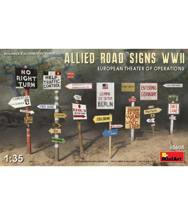 Acessórios MiniArt Allied Road Signs WWII Europe scale: 1/35