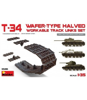MiniArt Accesorios T-34 Juego de eslabones de vía trabajables a la mitad tipo oblea 35216