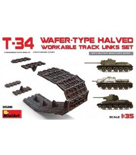 Set di binari lavorabili divisi in due dimensioni tipo Wafer T-34 MiniArt Accesorios 35216