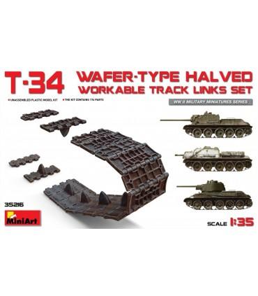 MiniArt Accesorios T-34 Conjunto de links de faixas viáveis cortados ao meio