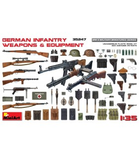 MiniArt Accesorios German Infantry Weapons & Equipment, escala 1/35