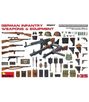 Accessoires MiniArt Armes et équipements d'infanterie allemande, échelle 1/35