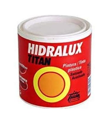 Satin plastic paint Hidralux white and colors 375ml