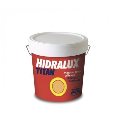 Pintura plástica satinada Hidralux blanca y colores 4l