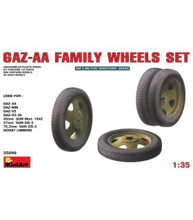 Accessoires Jeu de roues familiales GAZ-AA, échelle 1/35
