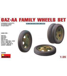 Accessories GAZ-AA Family Wheels set, 1/35 scale