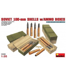 Accessories Soviet 100-mm Shells w / Ammo Boxes 1/35