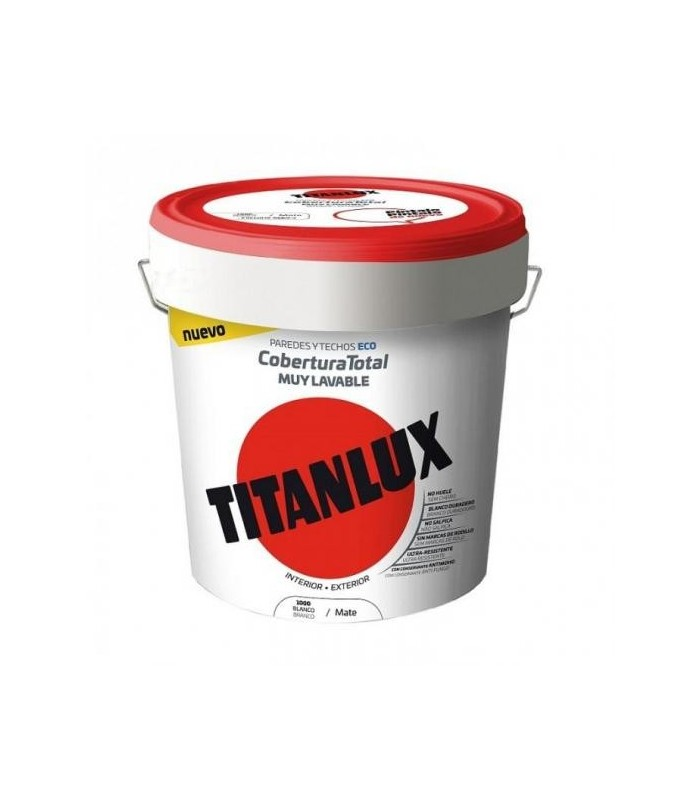 Pintura Plástica Ecológica Titanlux blanco 15l