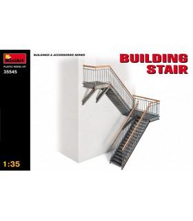 Escalier de bâtiment accessoire MiniArt modèle. Échelle 1/35