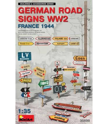 Accesorios Germ. Road Signs France 44 WW2. Escala: 1/35
