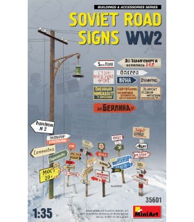 Acessórios sinais de trânsito soviéticos WW2. 1/35 scale