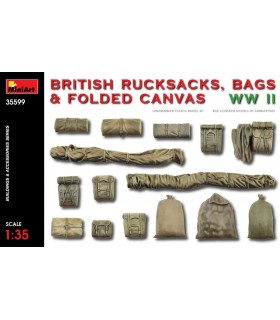 MiniArt maquetas Accesorios British Rucksack Bag Canvas WW2. Escala: 1/35
