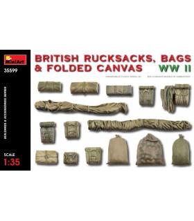 Modelos de MiniArt Acessórios Mochila britânica WW2. Escala: 1/35