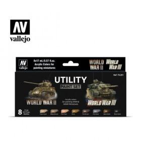 Set Utility Paint Set Segunda Guerra Mundial e Segunda Guerra Mundial Vallejo 70201