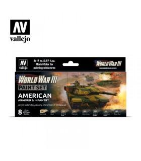 Imposta l'armatura americana e la fanteria della Seconda Guerra Mondiale Vallejo 70220