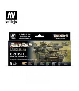 Conjunto da Segunda Guerra Mundial British Armour & Infantry 70222