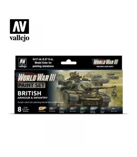 Imposta l'armatura e la fanteria britannica della seconda guerra mondiale 70222